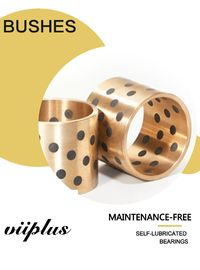 Bebas Grafit Plugged Bronze Bearings Valves, Bushing Steel / Copper Composite