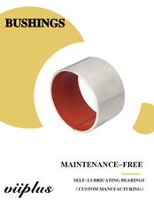 Cina Low Friction Metal Polymer Red PTFE Composite Bearings Sleeveings Bushing pabrik