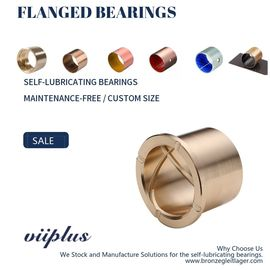 Cina Precision Flanged Groove Cast Bronze Bushings Spiral Inside Groove Bearings pabrik