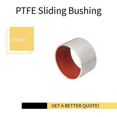 Self Lubricating Sliding Bearing Hidrolik Merah PTFE Bushing