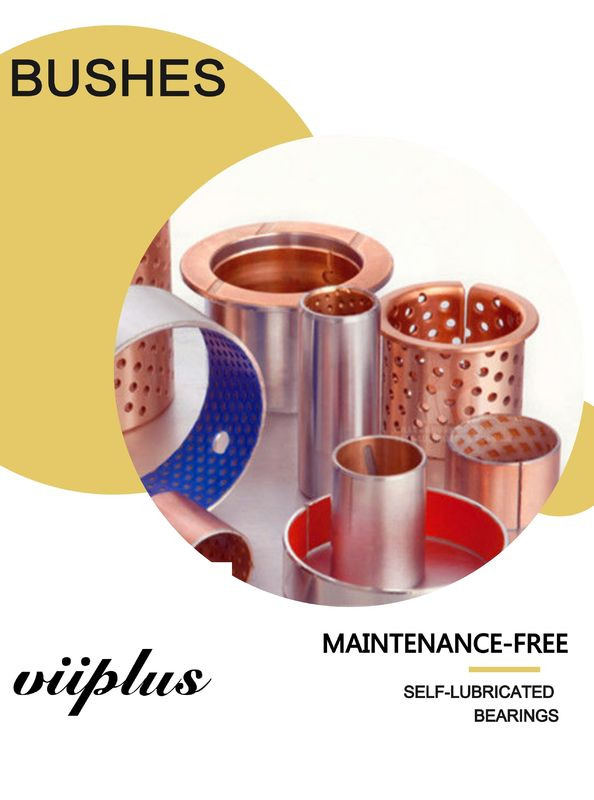 Kemasan Makanan & Minuman Industri Self-Lubricating Bronze Flanged Sleeve Bushes Bearings