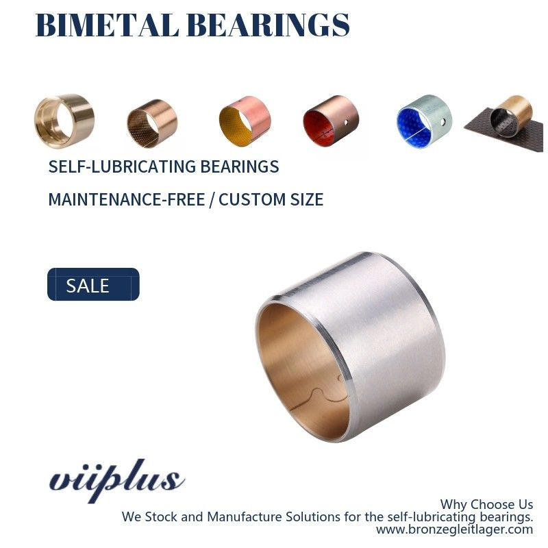Bimetal Bearing Metal Bushes CuPb30 Material Lead Bronze Flanged Sleeve Bearings