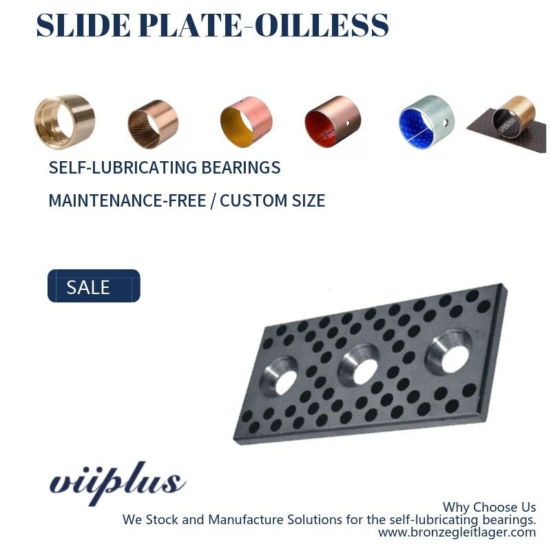S45C Oilless Slide Plate, Pelat Aus Self Lube Graphite Steel Khusus pemasok