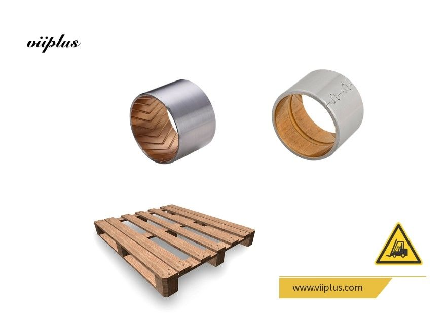 Split Type Bimetal Bearing Bushes Buckle Steel Backed Solid Sleeve Bushing