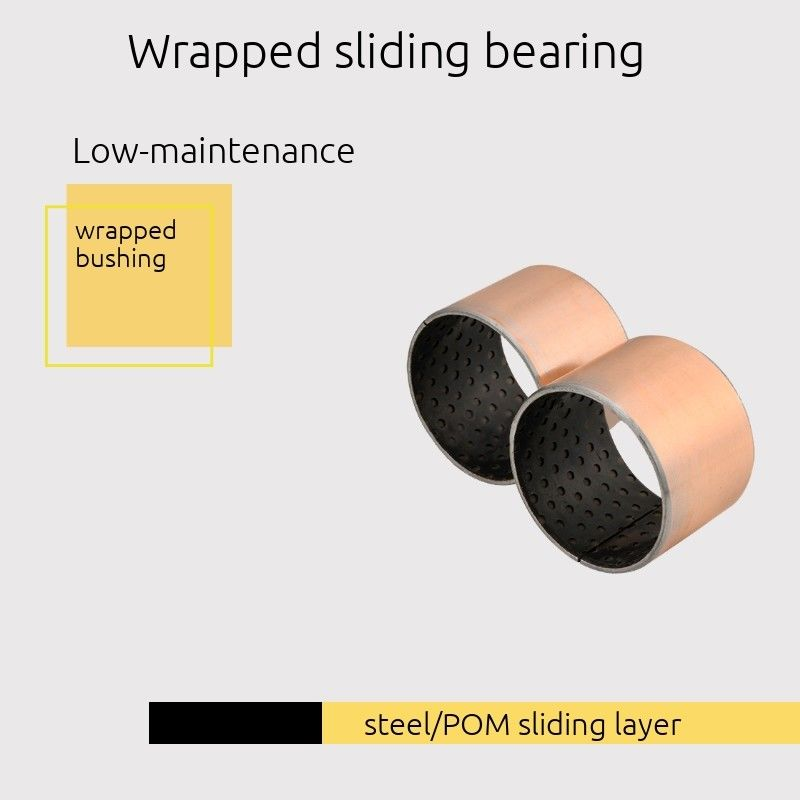 Sliding Bearing Steel / Black POM Sliding Layer DIN 1494 / ISO 3547