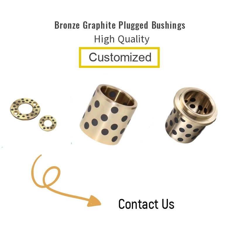 Self Lubrication Bronze Graphite Plating Bushings Ukuran Metrik Untuk Sliding Plate