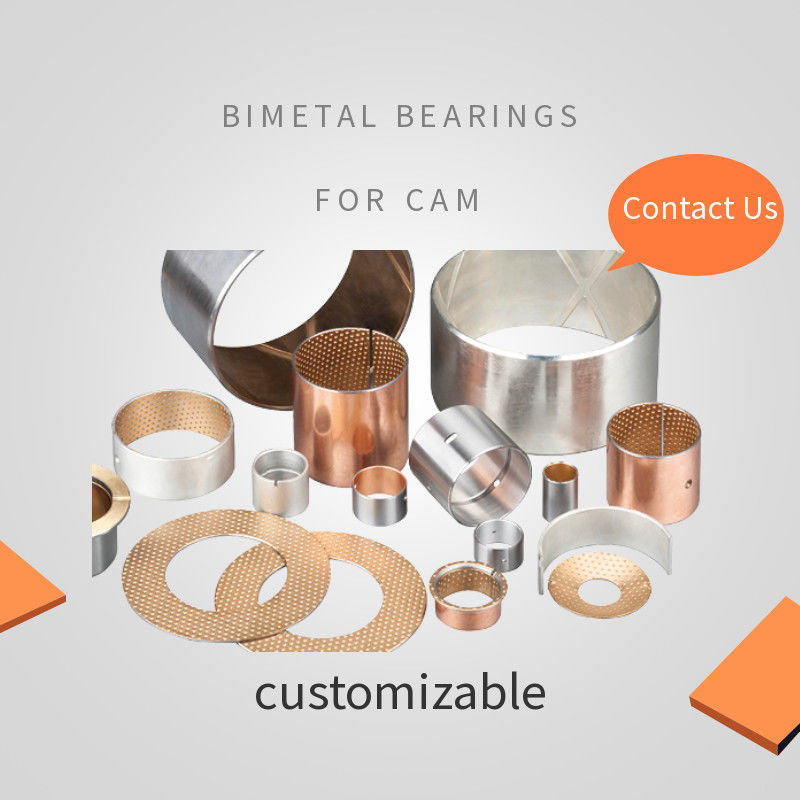 Low - Noise Cam Bantalan Bimetal Bushing Camshaft Bushing Costomized