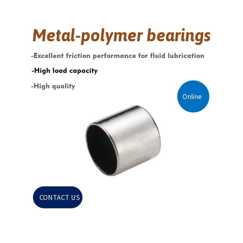 Aisi 316 Baja Didukung Bushing Dengan Sliding Layer, PTFE Dry Slide Bearings
