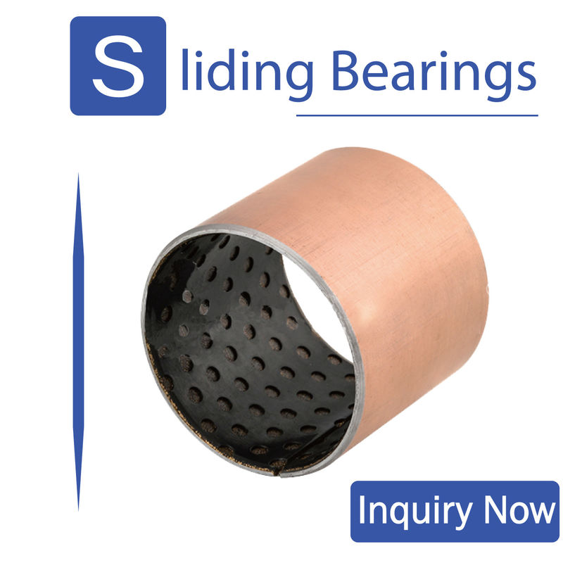 ISO 9001 Dry Self Lubricating Bearings, Pom Bushing Untuk Mesin Pertambangan