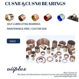 Cina CuSn8P Wrapped Bronze Bearings Bronze Washer & Copper Gasket Beban Tinggi pabrik