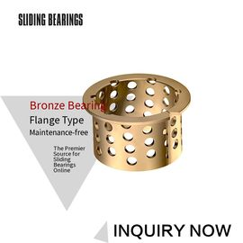 Cina Tin Bronze Sprocket Bushing 5050 Flange Collar Bearings CuSn8 Tahan Aus pabrik